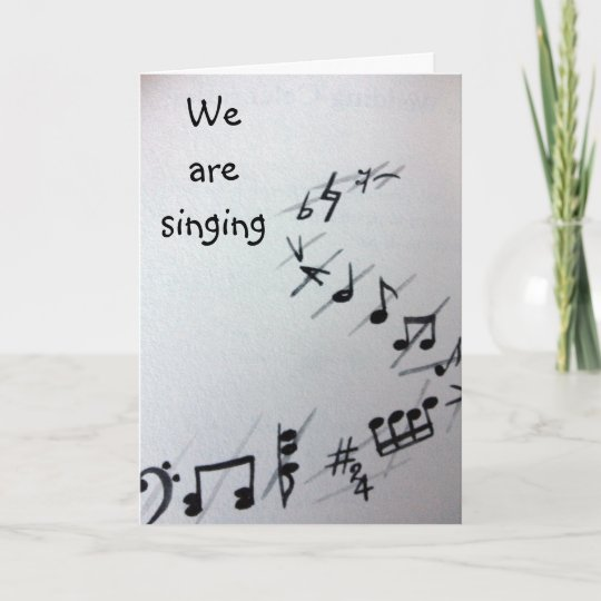 Musical Notes Group Birthday Card Zazzle