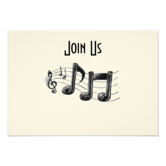 """MUSICAL NOTES IN A FUN """"ALL"""" OCCASION INVITATION"""