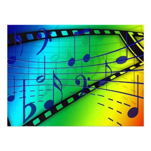 Musical notes personalized invites