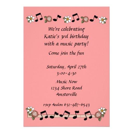 Musical Notes Invitation | Zazzle