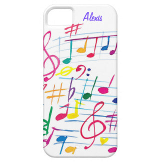 Musical Notes iPhone SE/5/5s Case