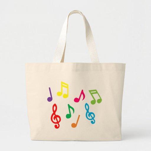 Musical notes jumbo tote bag
