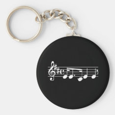 Musical Notes Keychain at Zazzle