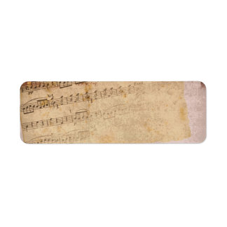 Musical notes labels