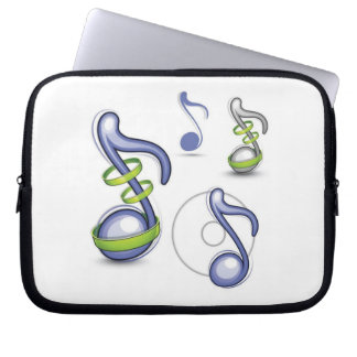 Musical Notes Laptop Sleeve Case