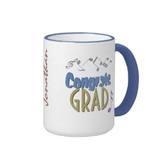 Musical Notes Linear Multicolor GRADUATION Custom Ringer Coffee Mug