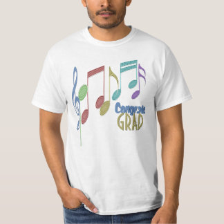 Musical Notes Linear Multicolor GRADUATION T-Shirt
