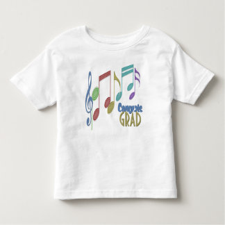 Musical Notes Linear Multicolor GRADUATION Toddler T-shirt