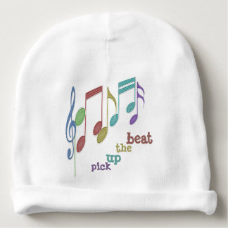 Musical Notes Linear Multicolor PICK UP THE BEAT Baby Beanie