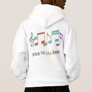Musical Notes Linear Multicolor PICK UP THE BEAT Hoodie