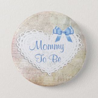 Musical Notes Lullaby Mommy to be Baby Shower Button