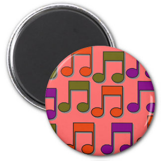 Musical Notes 2 Inch Round Magnet