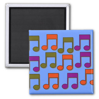 Musical Notes 2 Inch Square Magnet