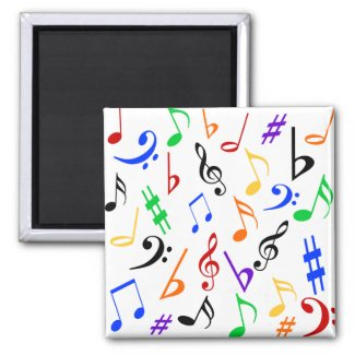 Musical Notes Magnet - Multi magnet