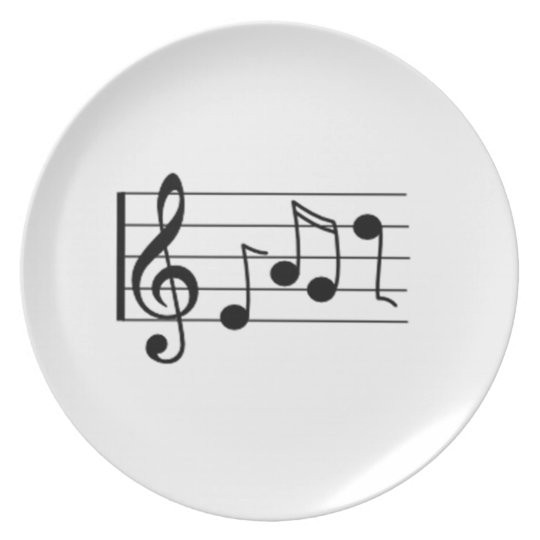 Musical Notes Melamine Plate