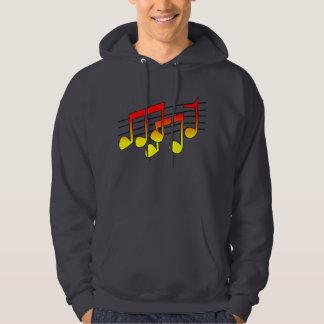 Musical Notes Mens Hoodie