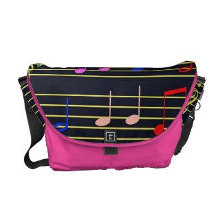 Musical Notes Messenger Bag