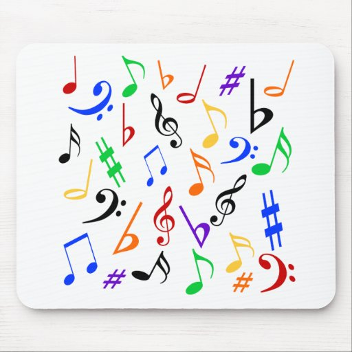 Musical Notes Mousepad - Music Multicolored