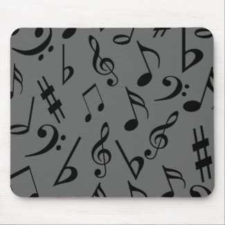 Musical Notes Mousepad - Silver mousepad