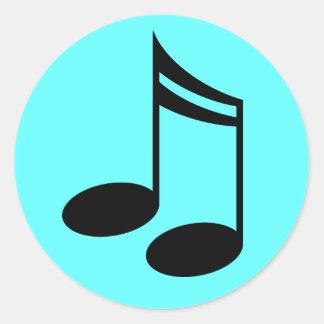 Musical Notes Music Gift Round Sticker