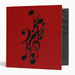 MUSICAL NOTES MUSICIAN 3 RING BINDERS