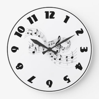 Musical Notes On A Staff Line Clock