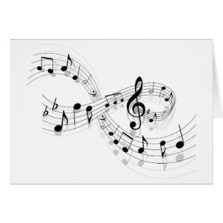 Musical Notes On A Staff Line Note Cards