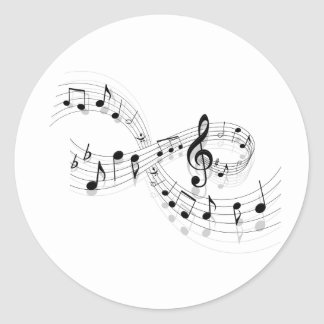 Musical Notes On A Staff Line Stickers
