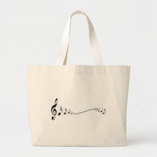 Musical notes on a wave shaped stave bags