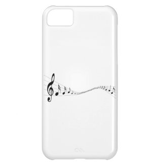 Musical notes on a wave shaped stave case for iPhone 5C
