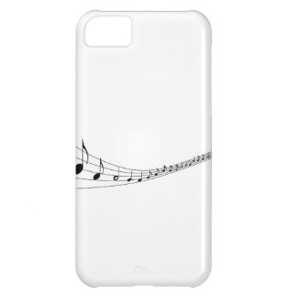 Musical notes on a wave shaped stave cover for iPhone 5C