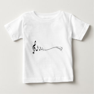 Musical notes on a wave shaped stave infant t-shirt