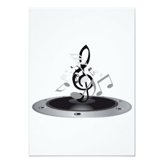 Musical Notes On An Album Card