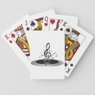 Musical Notes On An Album Playing Cards