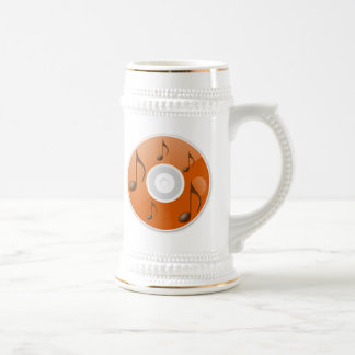 Musical Notes on CD Beer Stein