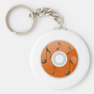 Musical Notes on CD Key Chain