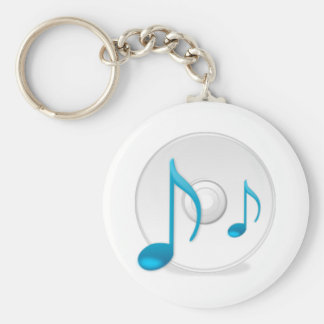 Musical Notes on CD Keychains