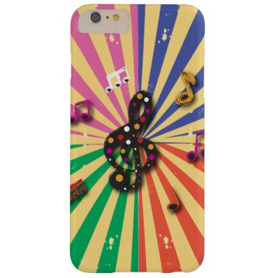 Musical Notes on Sunsplash Background Barely There iPhone 6 Plus Case