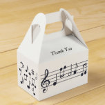 Musical Notes Party Favor Box