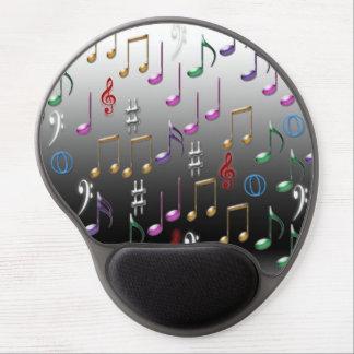 Musical notes pattern gel mousepad