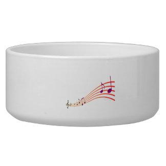 Musical Notes Pet Bowls