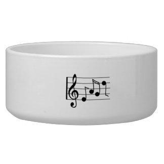 Musical Notes Pet Food Bowl