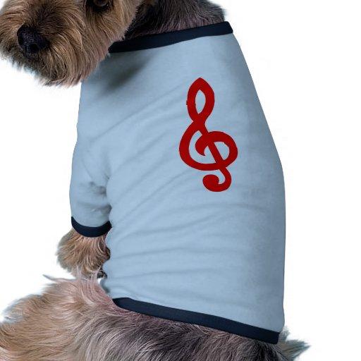 Musical notes pet tee shirt