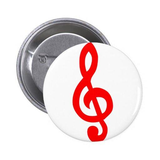 Musical notes pin