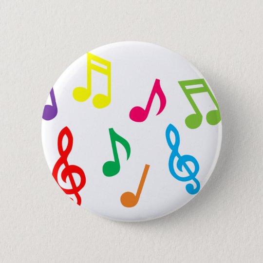 Musical notes pinback button