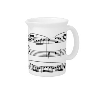 musical notes pitchers
