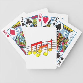 Musical Notes Playing Cards Bicycle Playing Cards