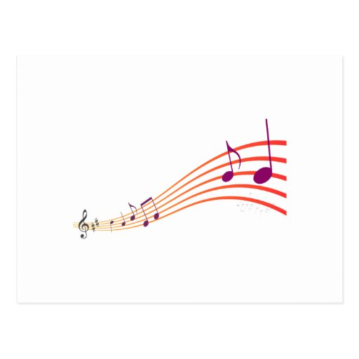 Musical Notes Post Card