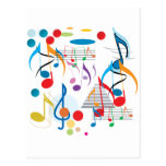 Musical Notes Post Cards