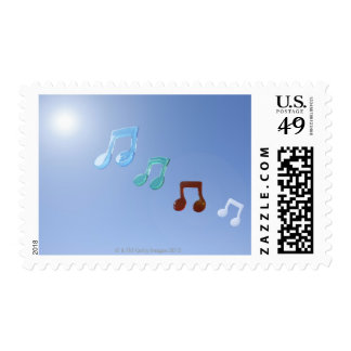 Musical Notes Postage Stamp